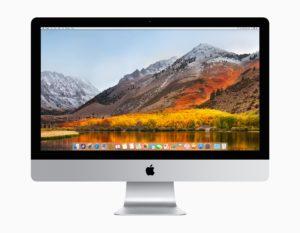 macOS High Sierra num iMac de frente