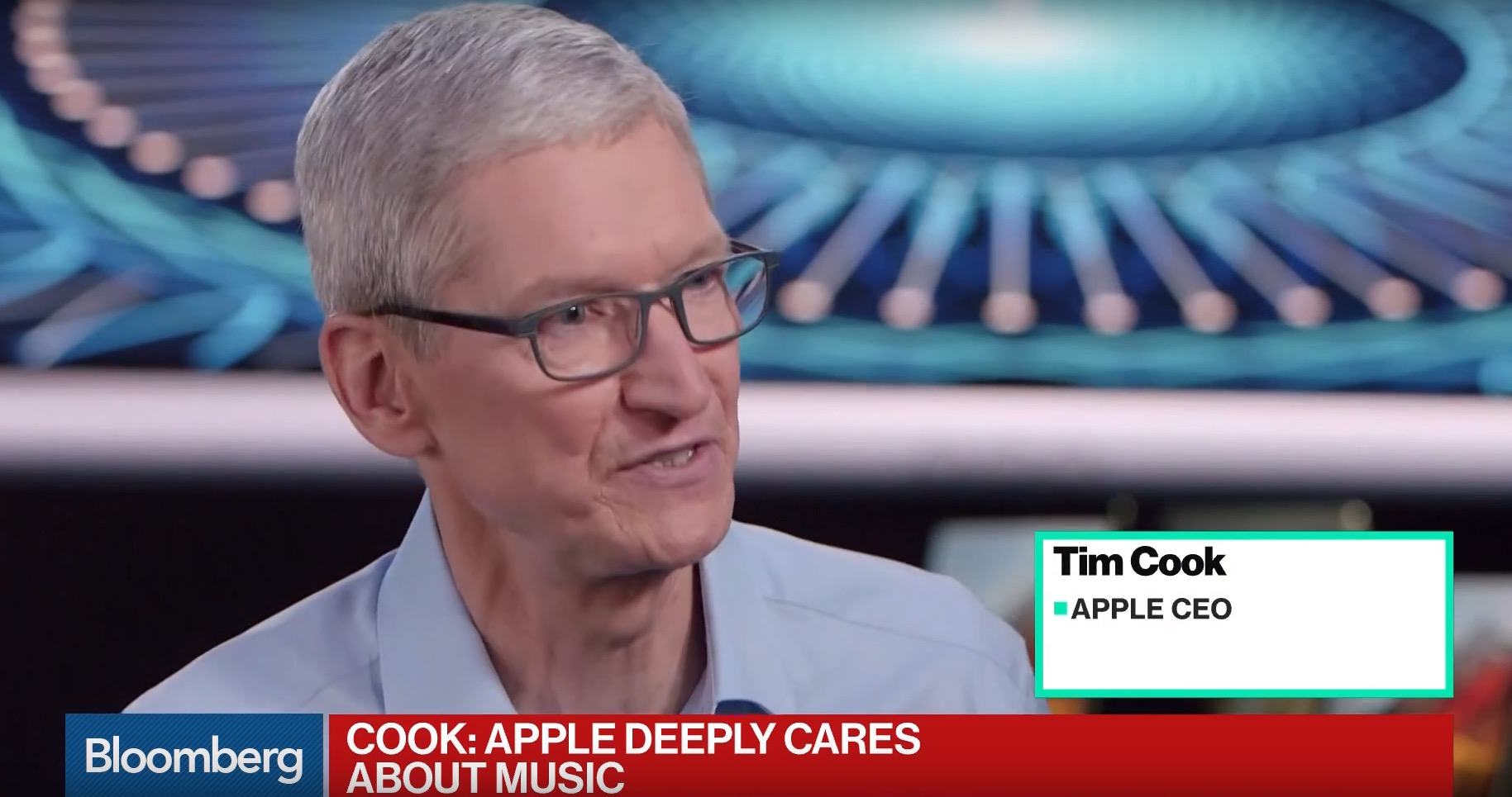 Tim Cook HomePod Bloomberg