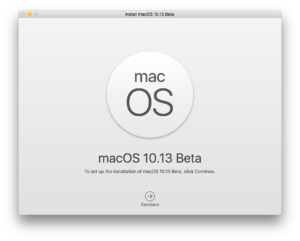 Screenshot do macOS High Sierra 10.13 beta