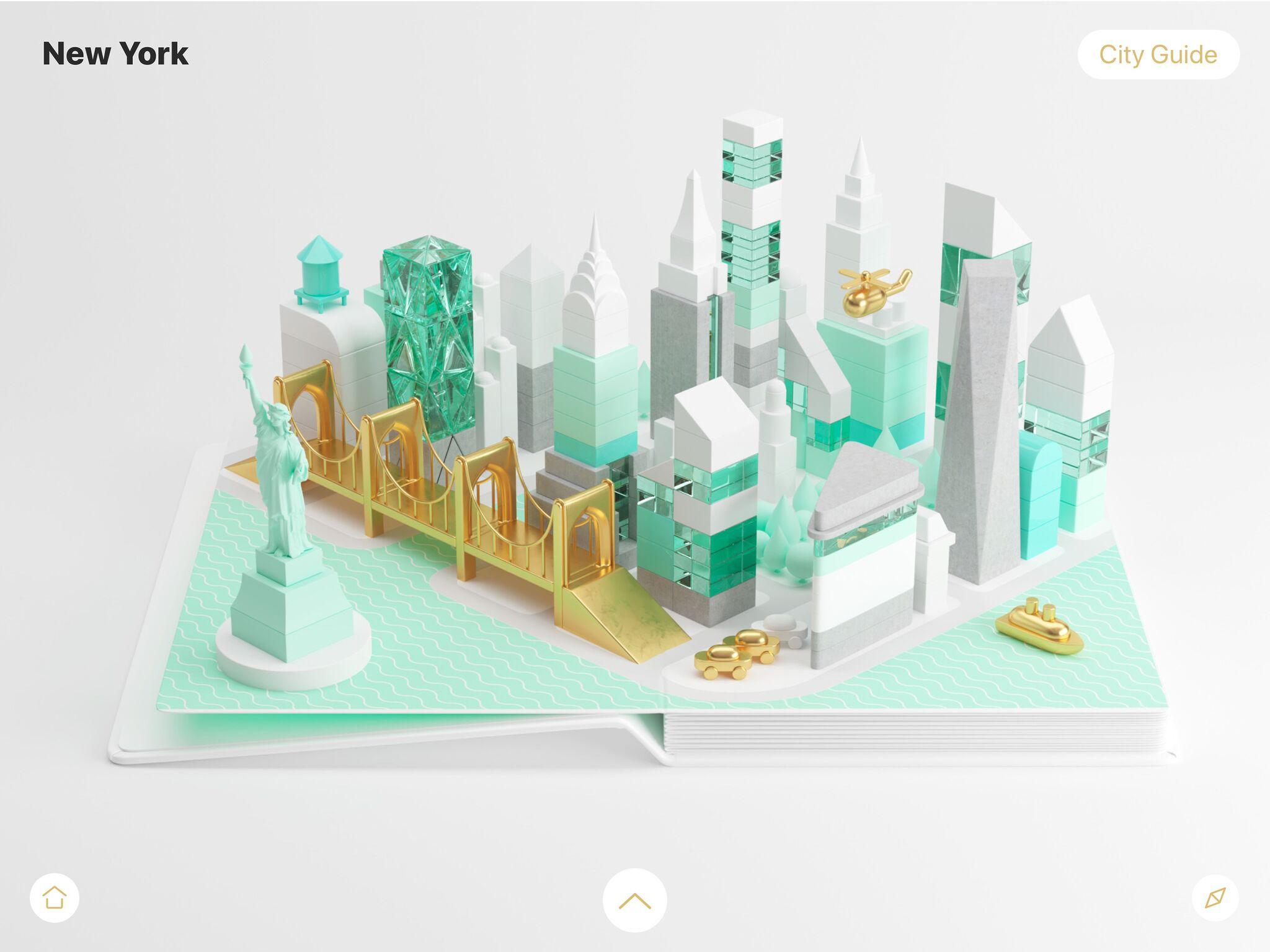 Aplicativo AirPano City Book para iOS