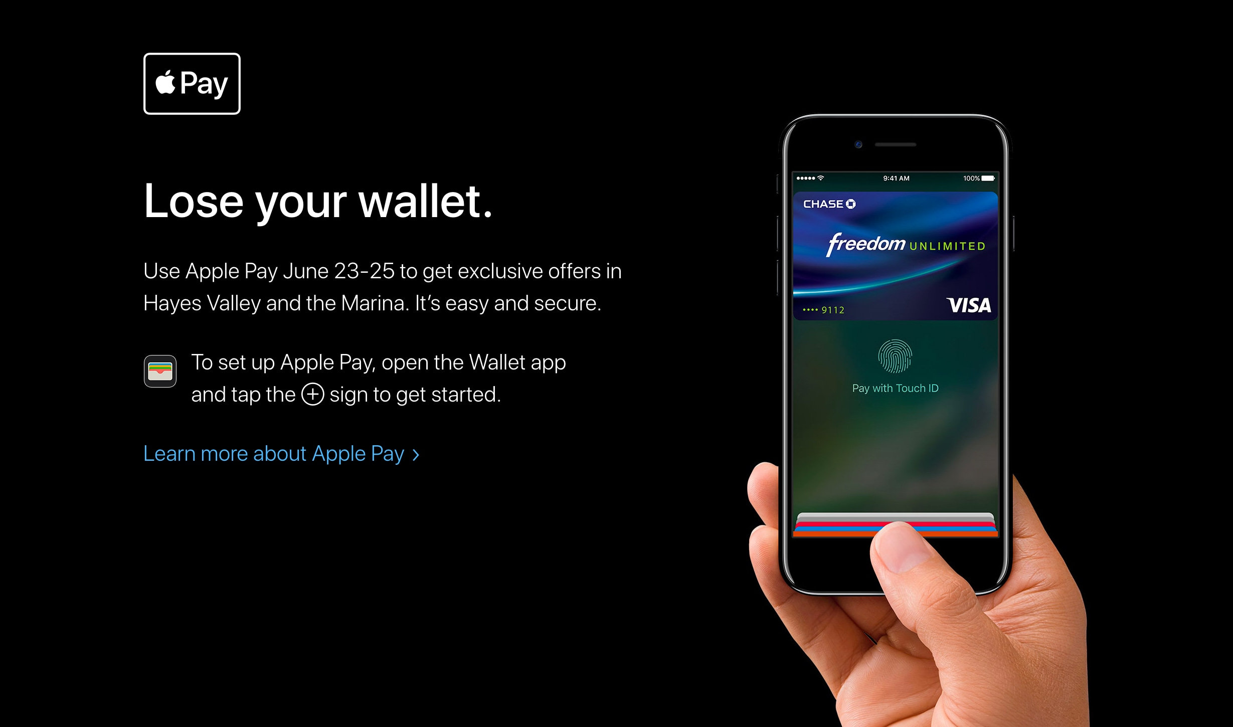 Apple Pay em SFO
