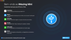 Tela do app iMazing Mini para macOS