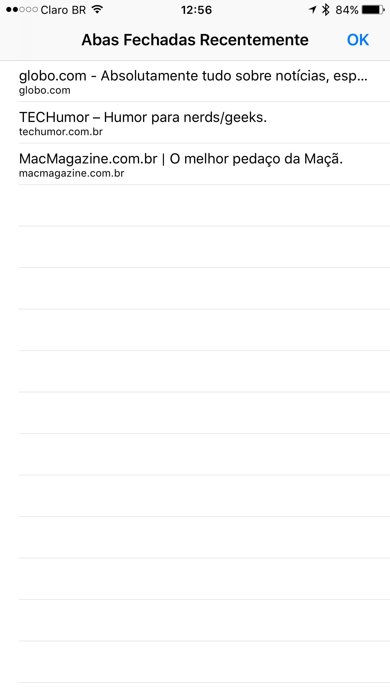 Trabalhando com abas no Safari do iOS