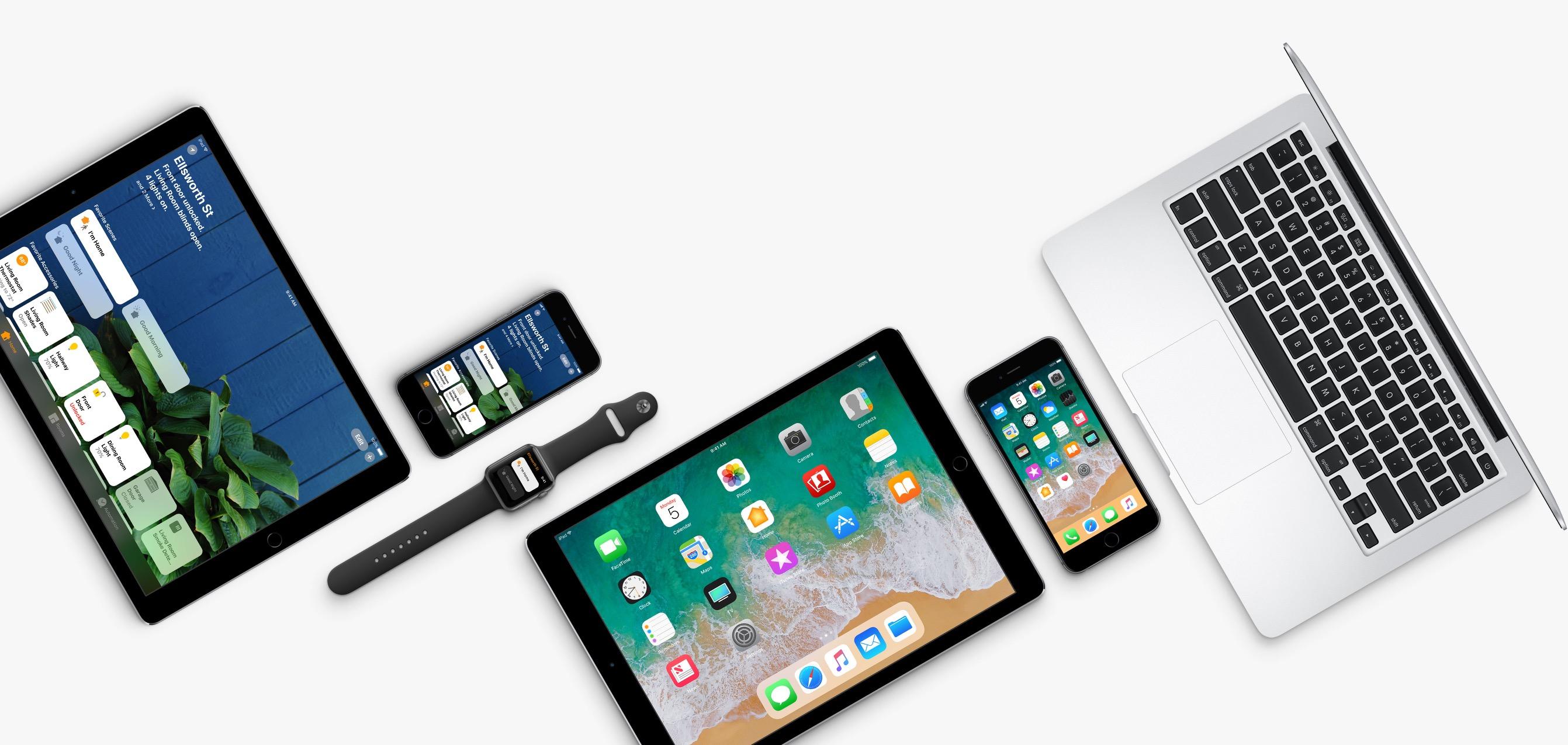 Família de produtos com os novos sistemas operacionais