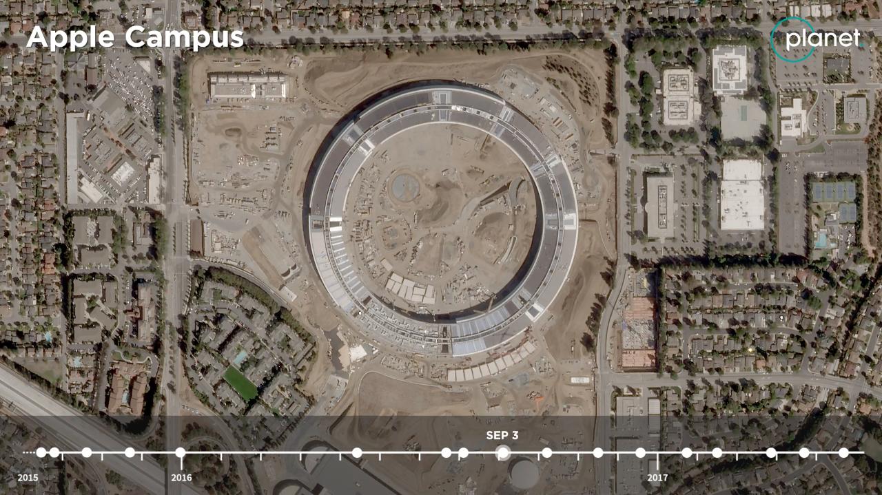 Time-lapse do Apple Park