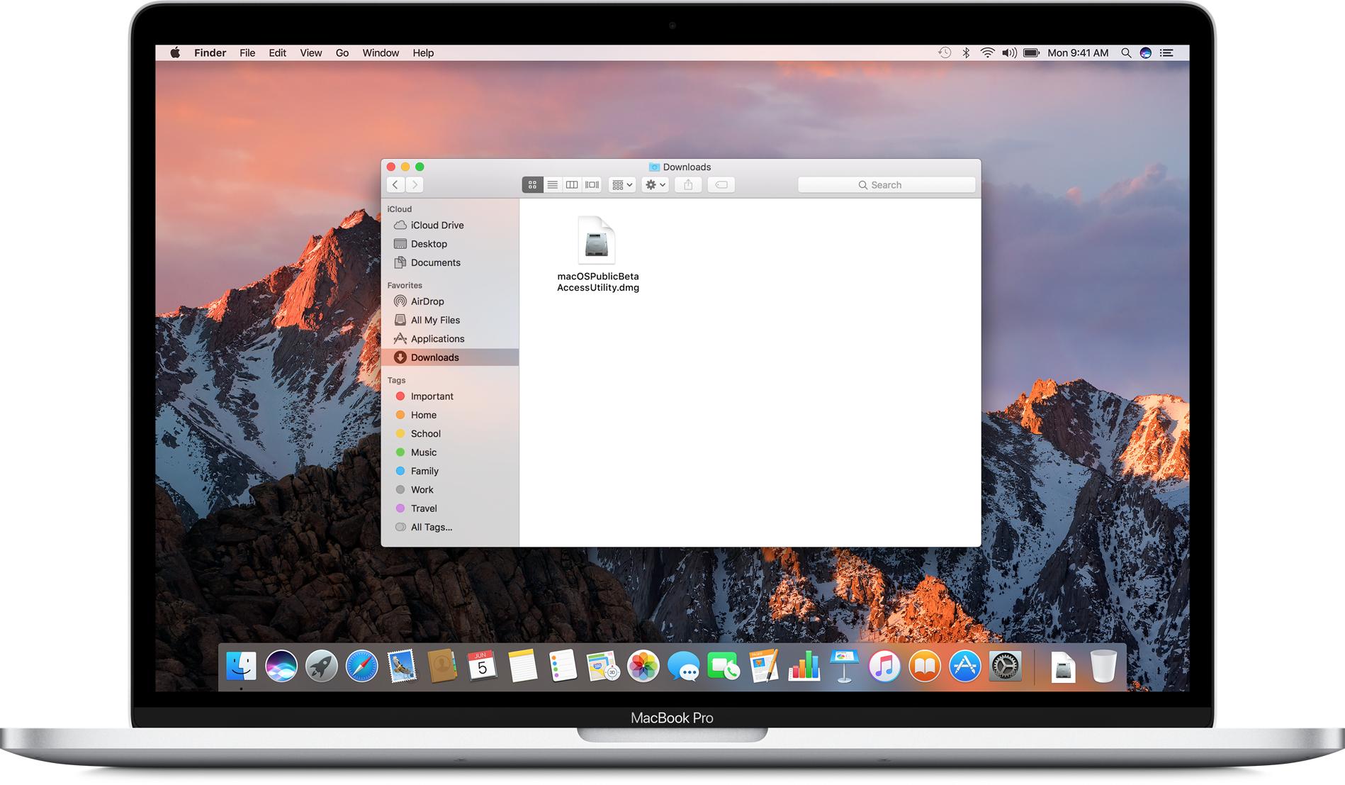 Instalando o utilitário do macOS High Sierra beta