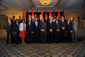 Reunião do primeiro-ministro indiano Narendra Modi com Tim Cook e outros executivos