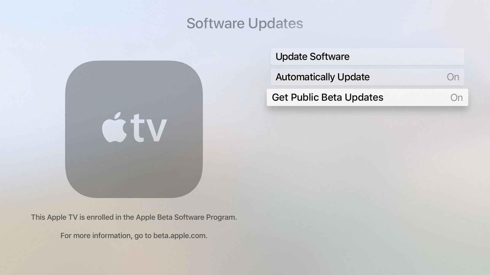 Instalando o tvOS 11 beta
