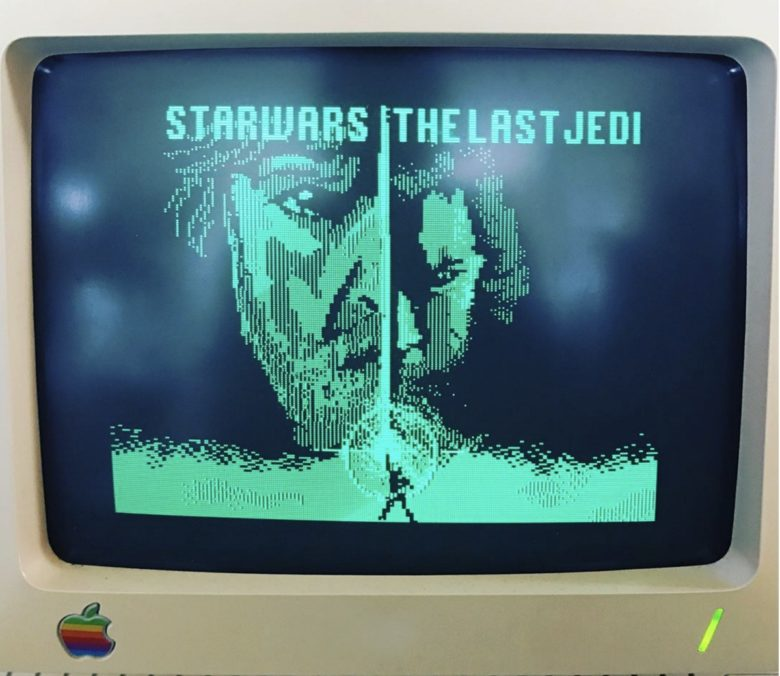 """""""Star Wars: The Last Jedi"""" num Apple IIc"""