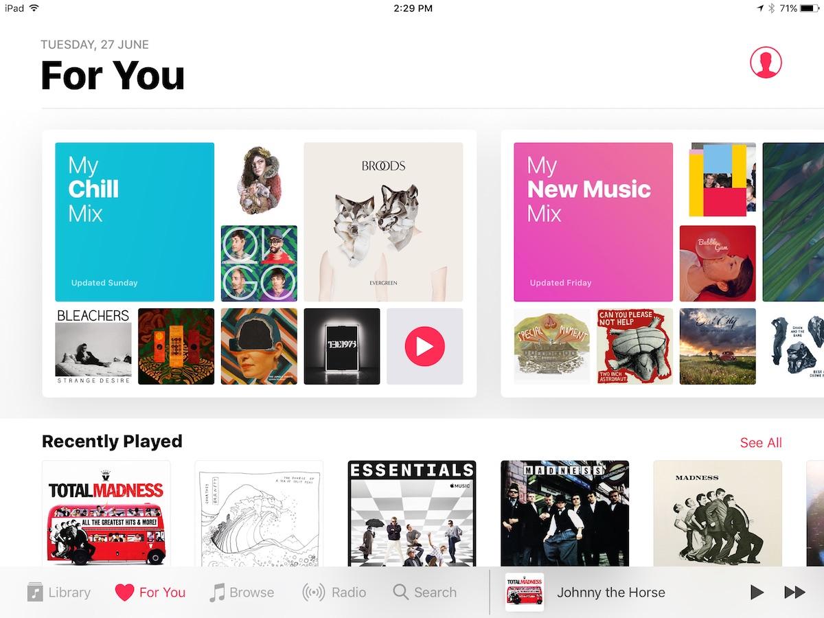 """My Chill Mix"", nova playlist do Apple Music"