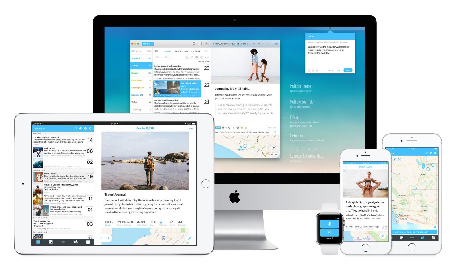 App Day One Journal para iOS, macOS e watchOS