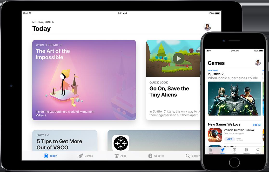 App Store no iOS 11