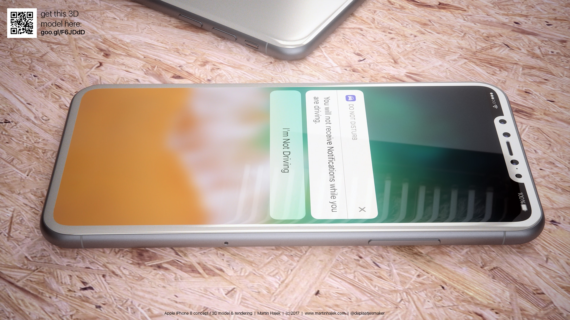 "Mockup/render do ""iPhone 8"" branco"