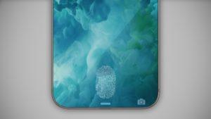 Conceito de Touch ID na tela do iPhone
