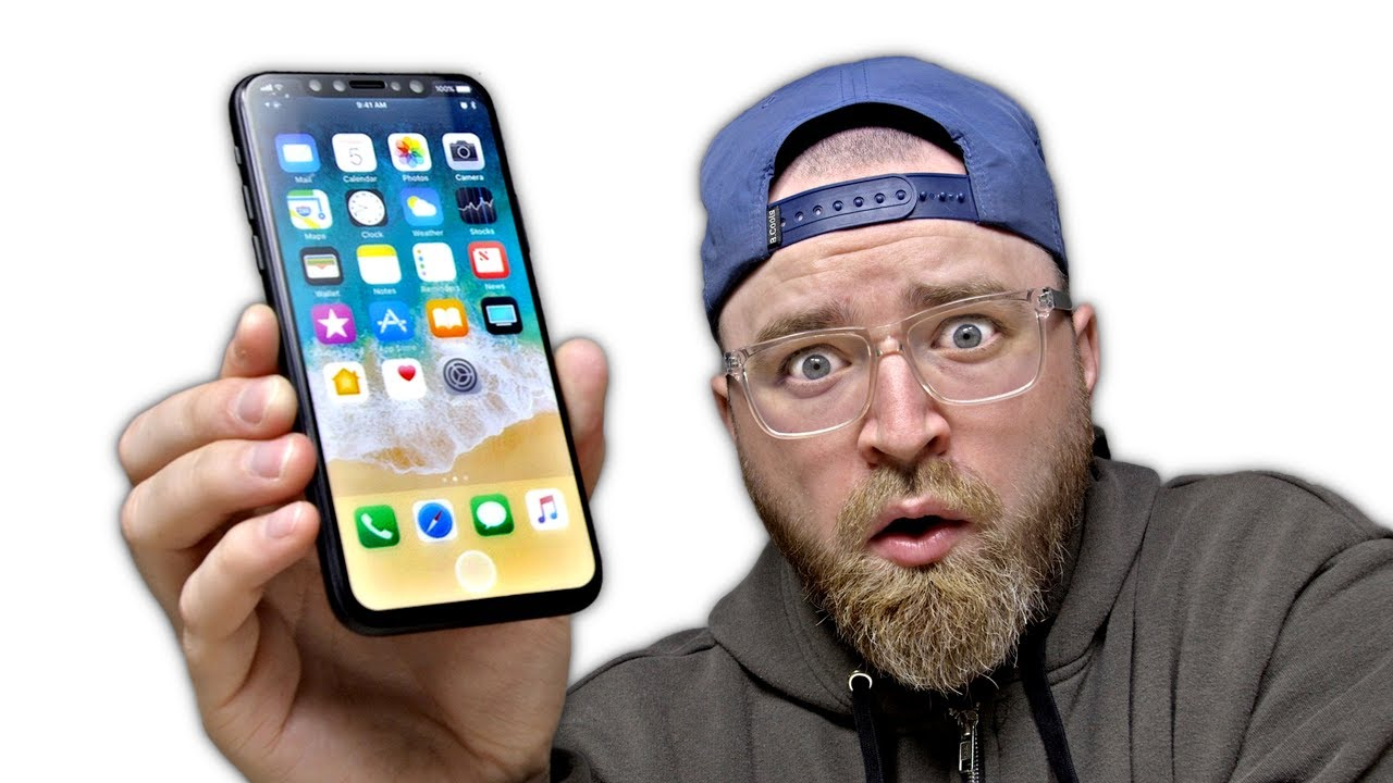 Mockup de iPhone 8 no Unbox Therapy