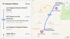 Apple Mapas transporte Las vegas
