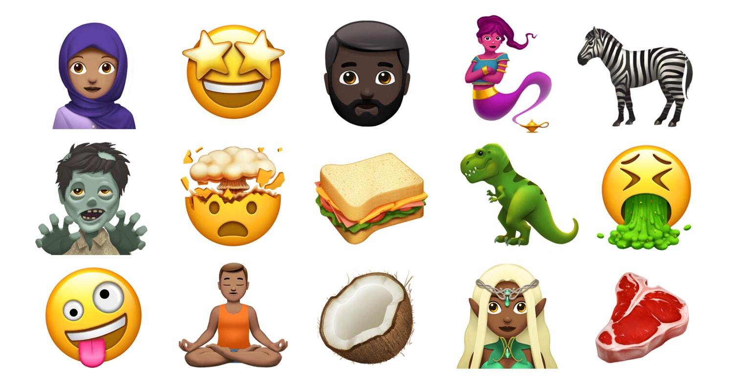 Novos emojis que chegarão ao iOS, ao macOS e ao watchOS