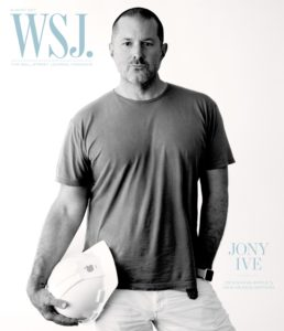 Jony Ive na capa do Wall Street Journal