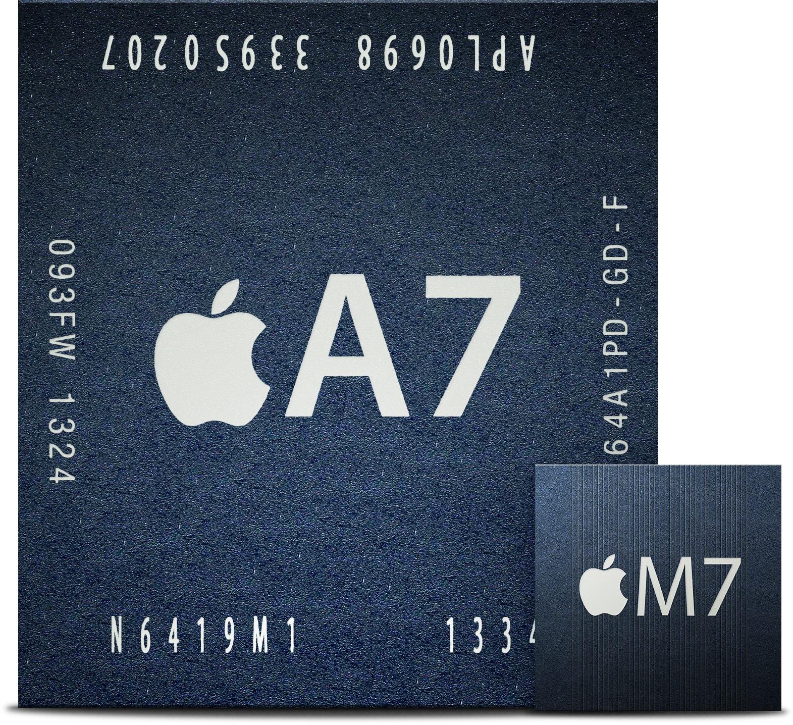 Chips A7 e M7, da Apple
