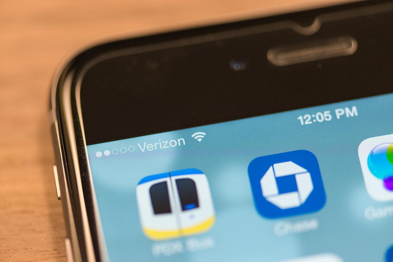 Indicador de sinal no iPhone