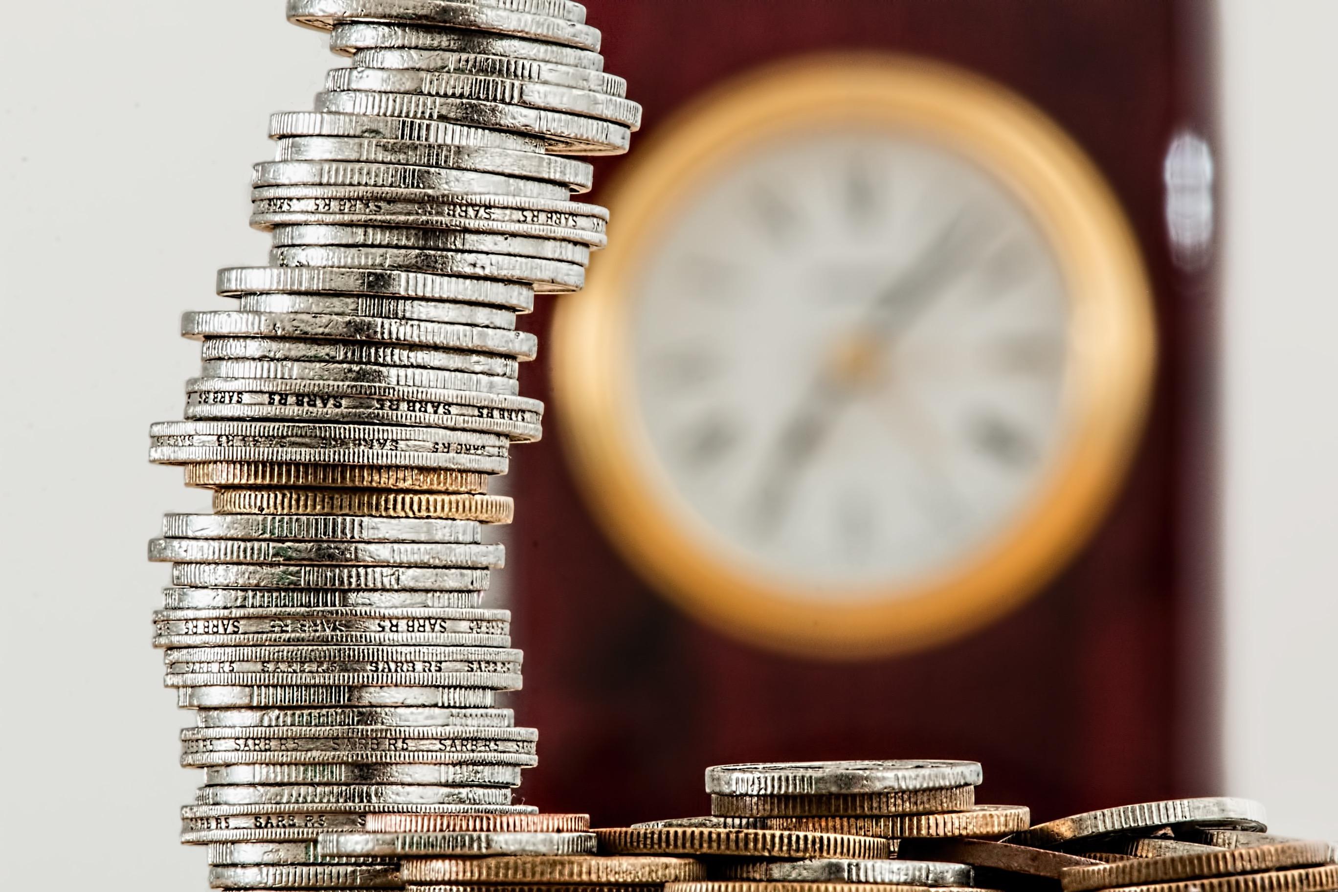 Pilha de moedas/dinheiro