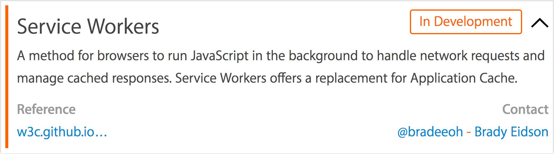 Service Workers sendo implementado no WebKit