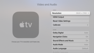 Apple TV rodando em 4K