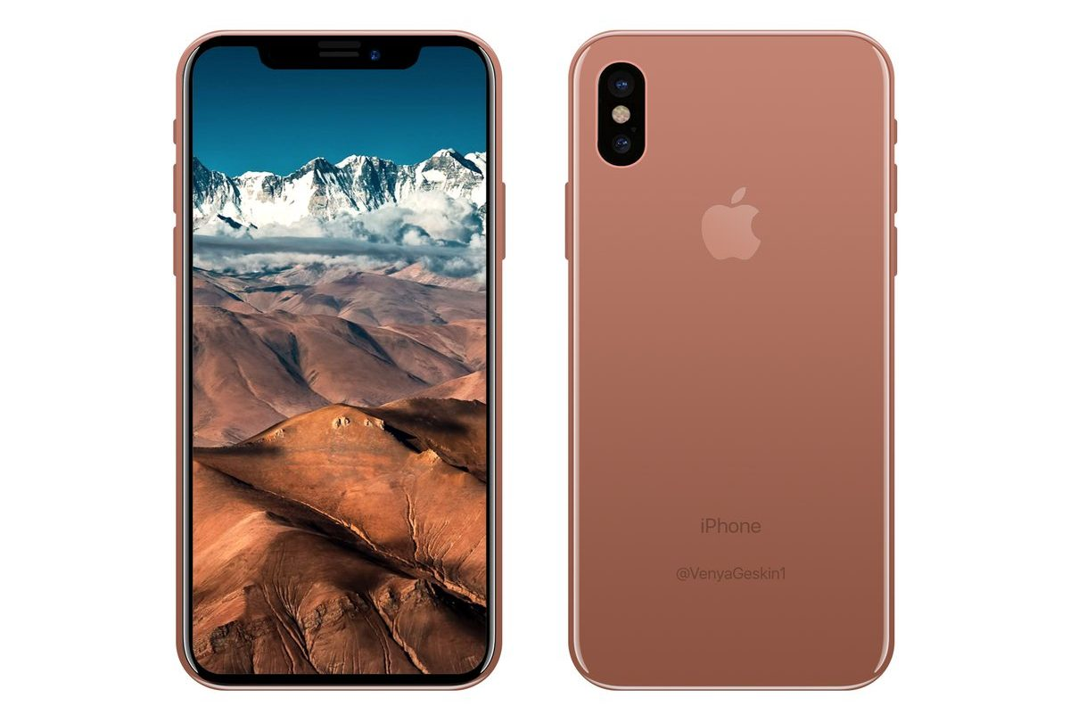 """Mockup"" do ""iPhone 8"" - Blush Gold"