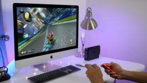 Nintendo Switch rodando num iMac
