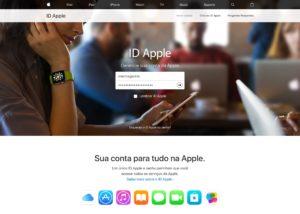 Site do Apple ID