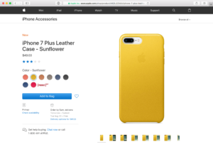 Cases para iPhone 7 à venda na Apple Store