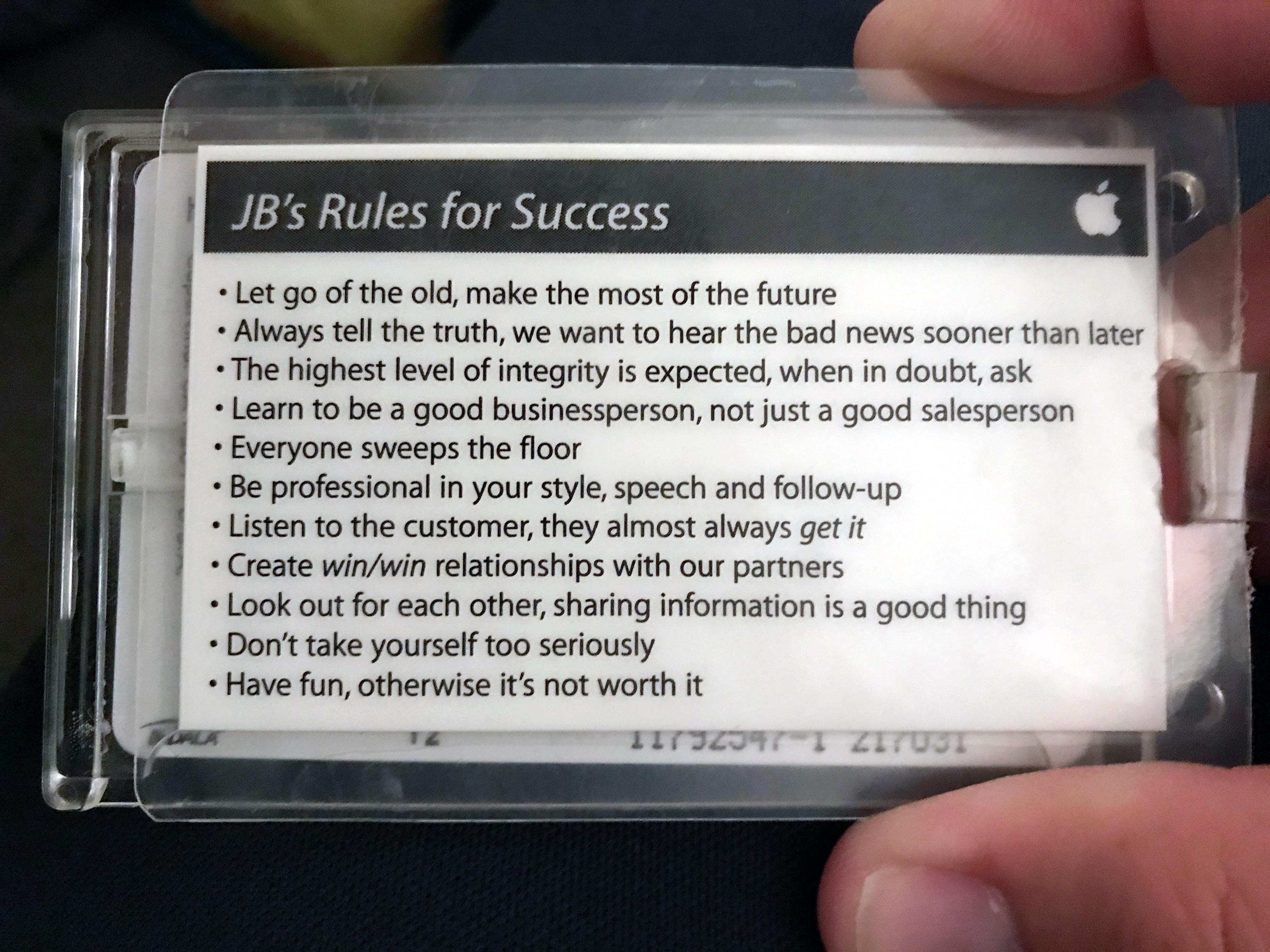 Regras do sucesso na Apple