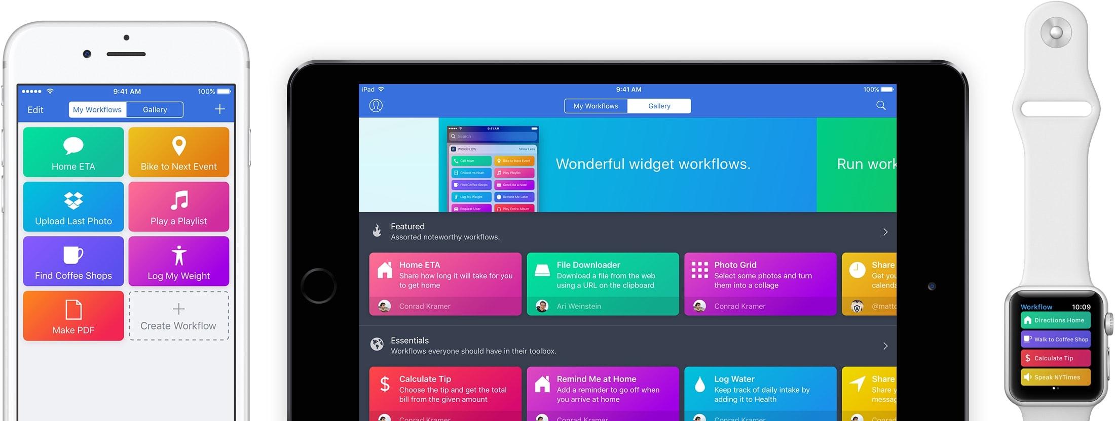 App Workflow para iOS e watchOS