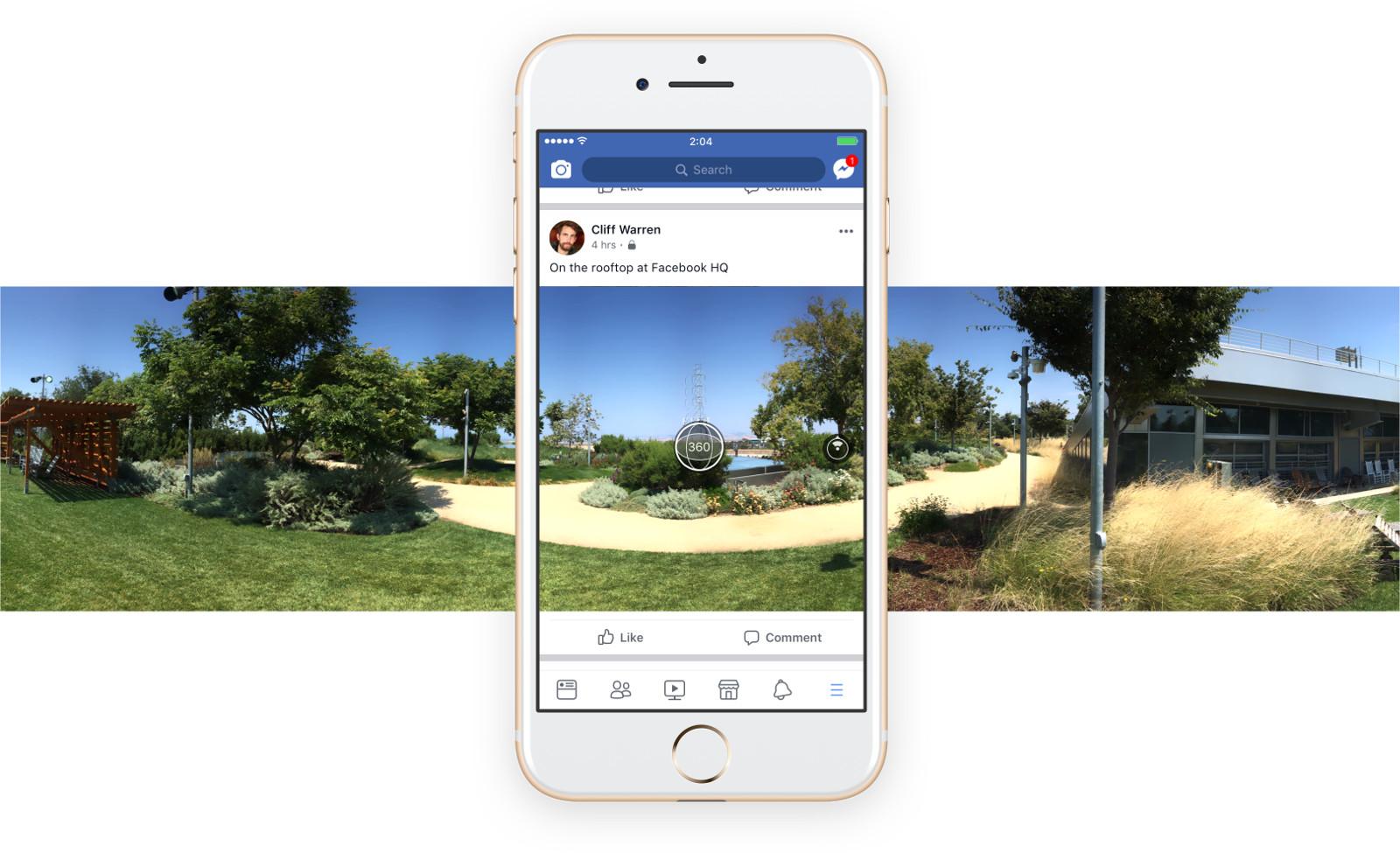 Novo recurso de captura de fotos em 360º do Facebook