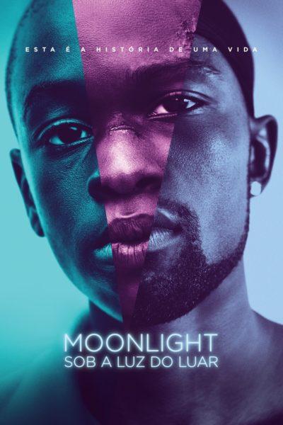 """Pôster do filme """"Moonlight: Sob a Luz do Luar"""""""