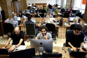 Escritório da Snapp, em Teerã