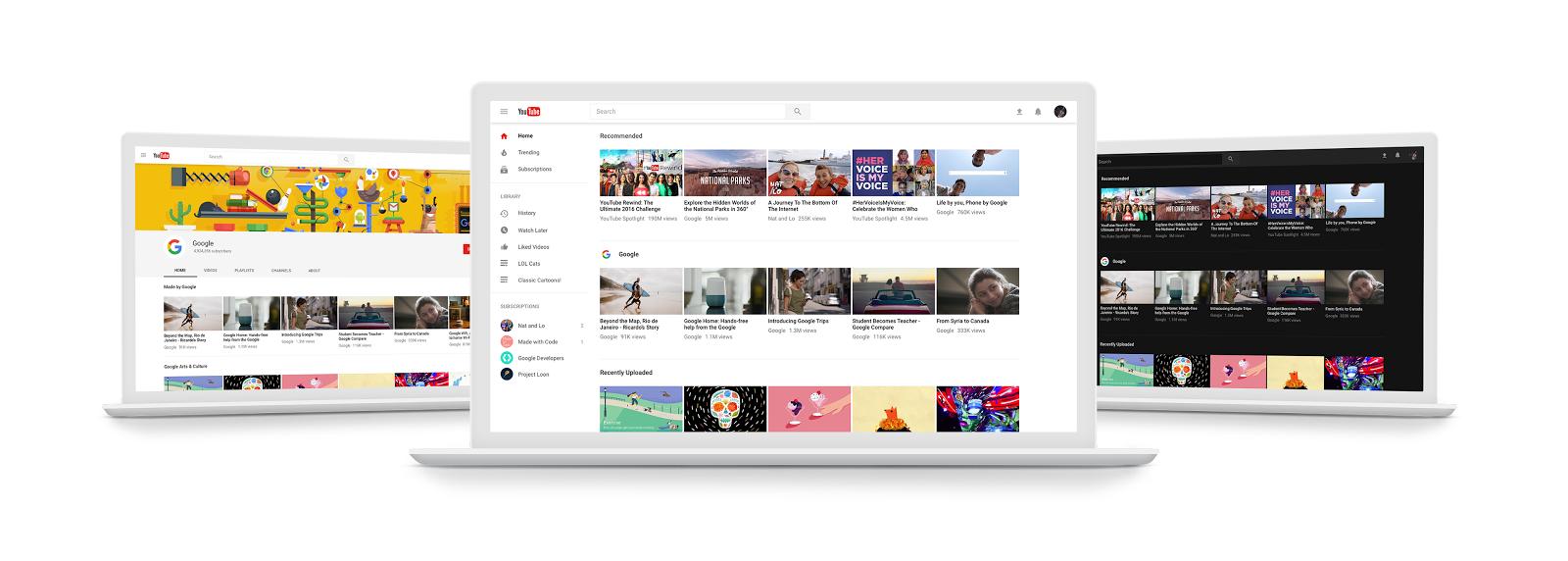Novo site do YouTube