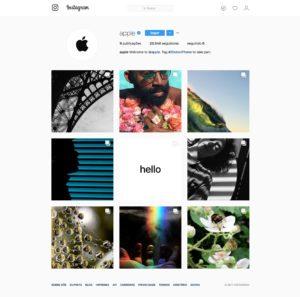Conta da Apple no Instagram