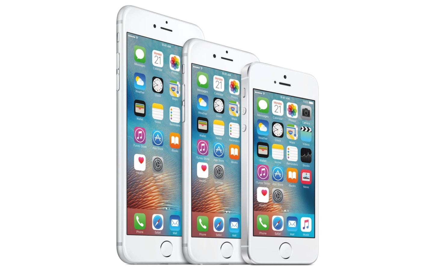 iPhones SE, 6s e 6s Plus