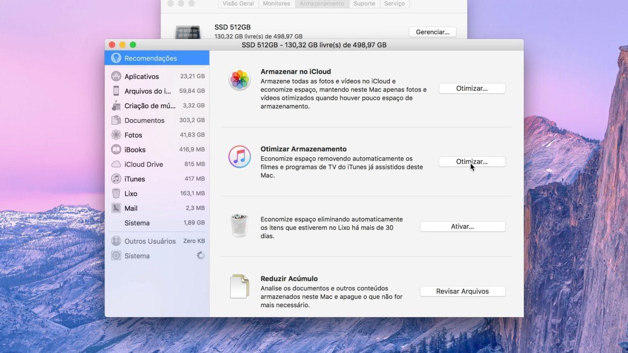 Vídeo: liberando e otimizando espaço no seu Mac