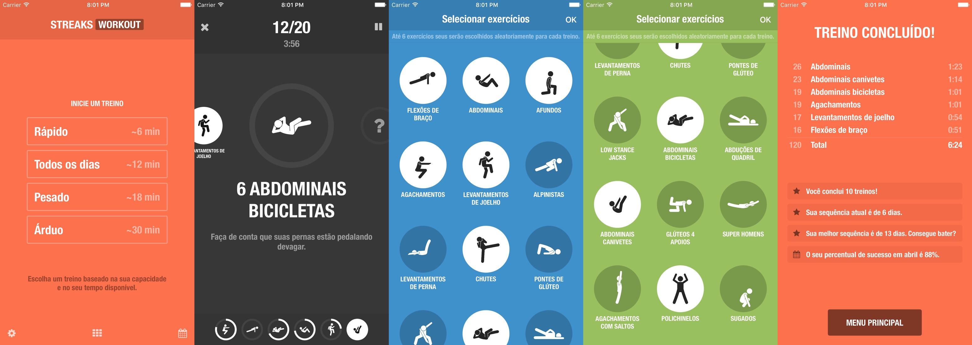 App Streaks Workout para iOS, watchOS e tvOS