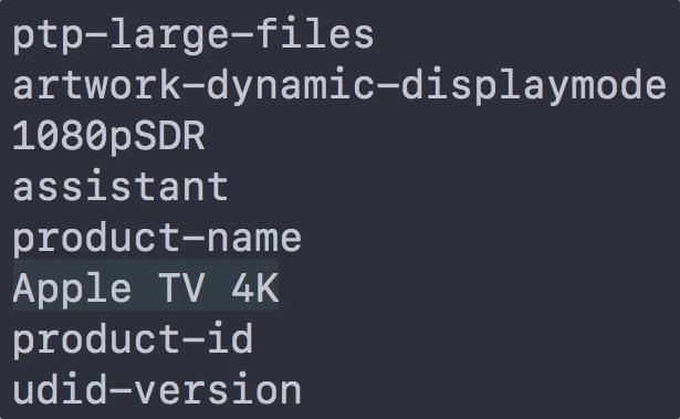 Referência ao nome Apple TV 4K