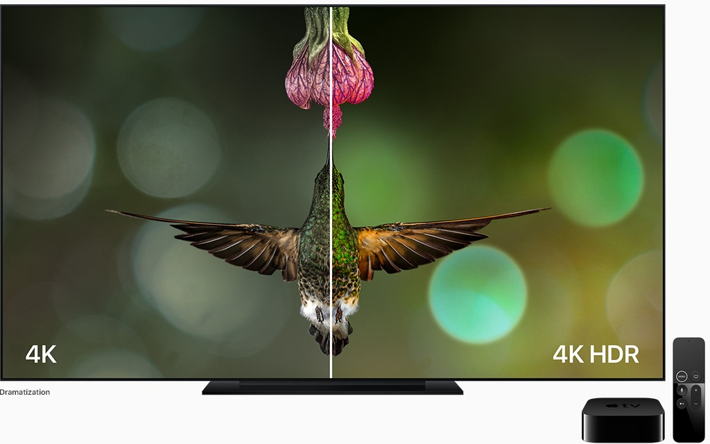 4K e HDR comparados na Apple TV 4K