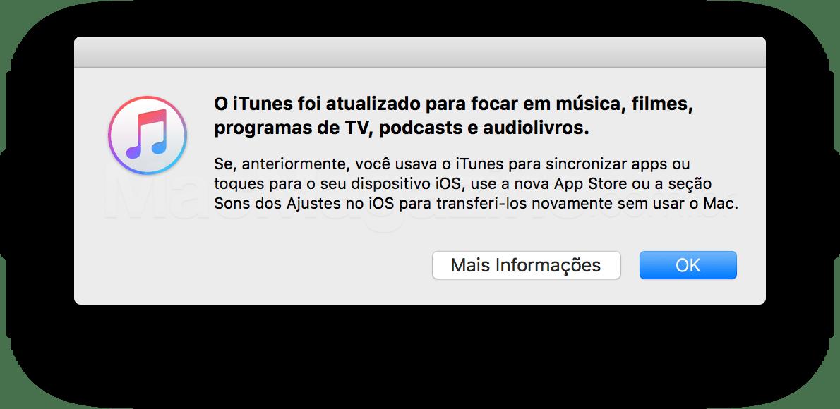 iTunes 12.7 sem apps