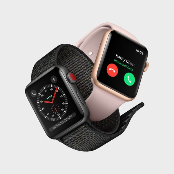 Apple Watch Series 3 entrelaçados