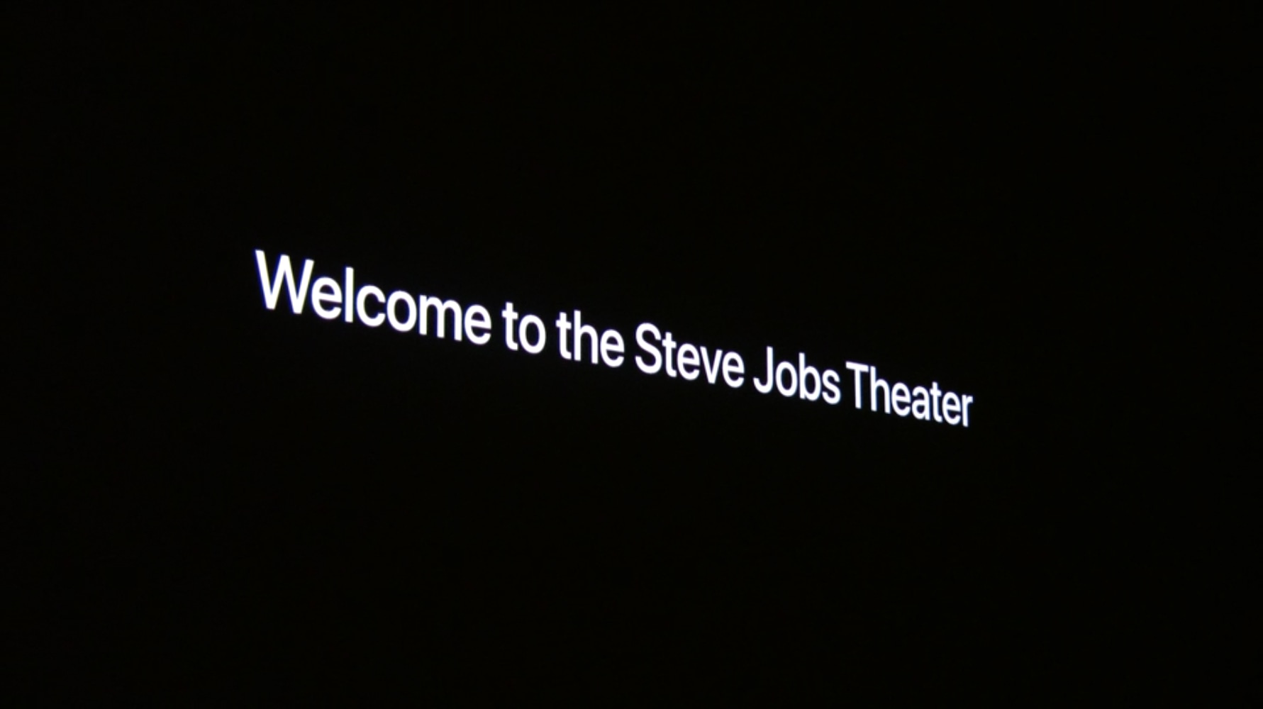 Welcome to Steve Jobs Theater