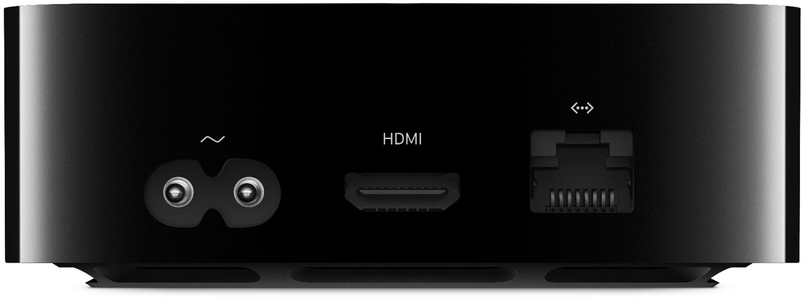 Traseira da Apple TV 4K