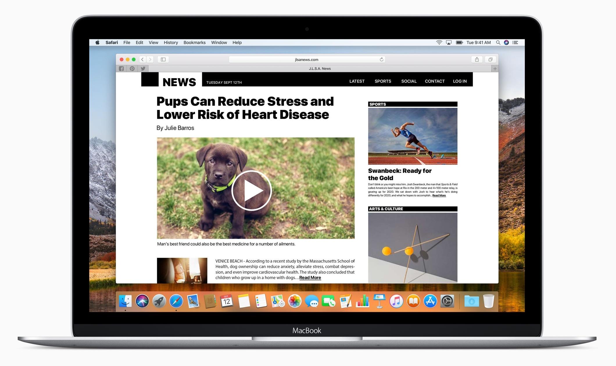 Safari no macOS High Sierra