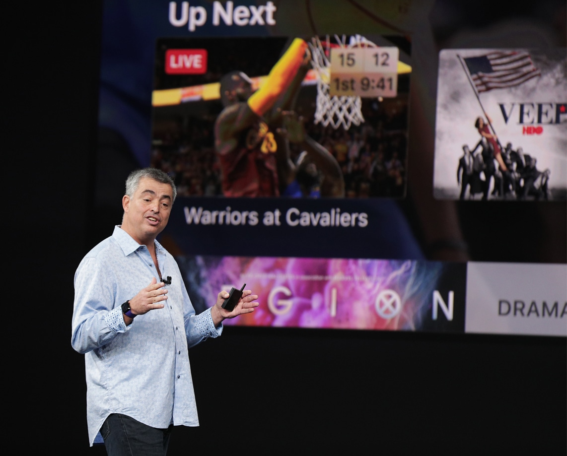 Eddy Cue falando sobre a Apple TV