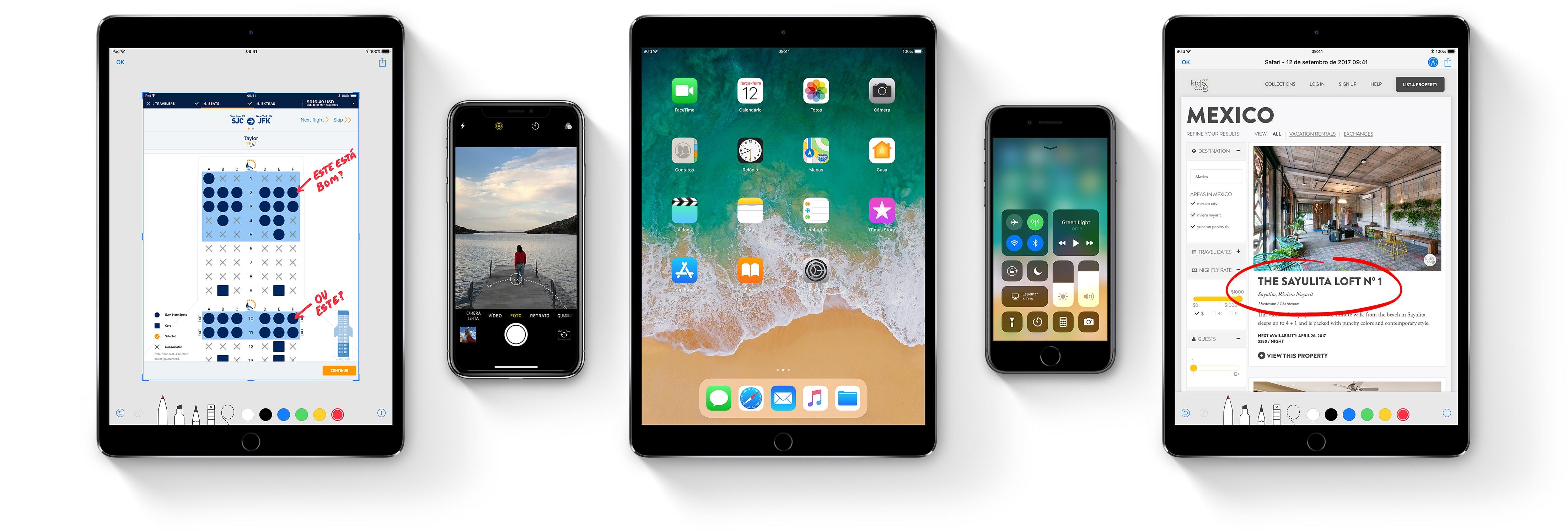 iPhones e iPads rodando o iOS 11